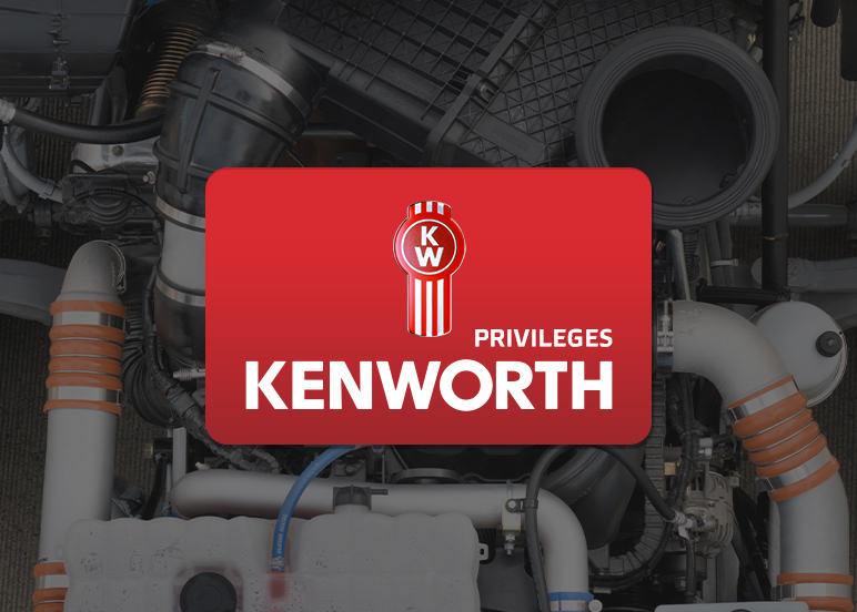 Mockup of Kenworth Privileges card